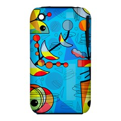 Happy day - blue Apple iPhone 3G/3GS Hardshell Case (PC+Silicone)