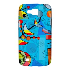 Happy day - blue Samsung Galaxy Premier I9260 Hardshell Case