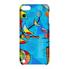 Happy day - blue Apple iPod Touch 5 Hardshell Case with Stand