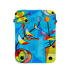 Happy day - blue Apple iPad 2/3/4 Protective Soft Cases