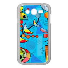 Happy day - blue Samsung Galaxy Grand DUOS I9082 Case (White)