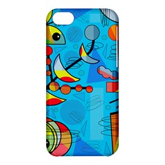 Happy day - blue Apple iPhone 5C Hardshell Case
