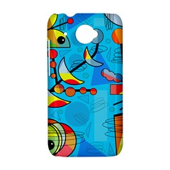 Happy day - blue HTC Desire 601 Hardshell Case