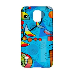 Happy day - blue Samsung Galaxy S5 Hardshell Case