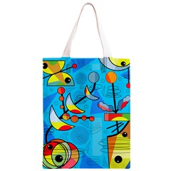 Happy day - blue Classic Light Tote Bag