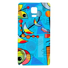 Happy day - blue Galaxy Note 4 Back Case