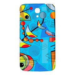 Happy day - blue Samsung Galaxy Mega I9200 Hardshell Back Case