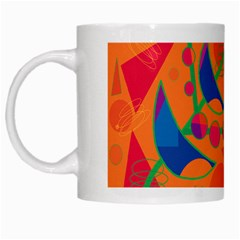 Happy day - orange White Mugs