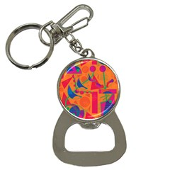 Happy day - orange Bottle Opener Key Chains