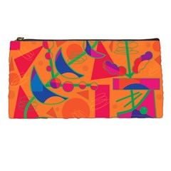 Happy day - orange Pencil Cases