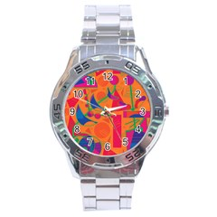 Happy day - orange Stainless Steel Analogue Watch