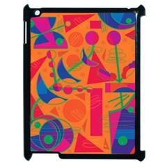 Happy day - orange Apple iPad 2 Case (Black)