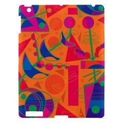 Happy day - orange Apple iPad 3/4 Hardshell Case