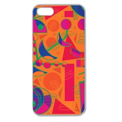 Happy day - orange Apple Seamless iPhone 5 Case (Clear)