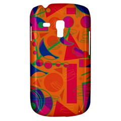 Happy day - orange Samsung Galaxy S3 MINI I8190 Hardshell Case