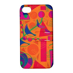 Happy day - orange Apple iPhone 4/4S Hardshell Case with Stand