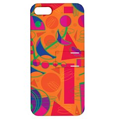 Happy day - orange Apple iPhone 5 Hardshell Case with Stand