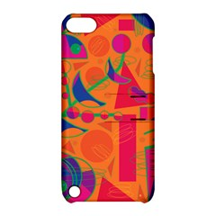 Happy day - orange Apple iPod Touch 5 Hardshell Case with Stand