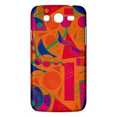 Happy day - orange Samsung Galaxy Mega 5.8 I9152 Hardshell Case