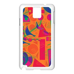 Happy day - orange Samsung Galaxy Note 3 N9005 Case (White)