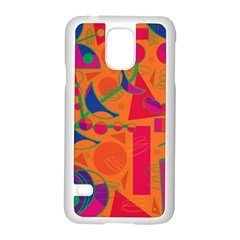 Happy day - orange Samsung Galaxy S5 Case (White)