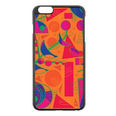 Happy day - orange Apple iPhone 6 Plus/6S Plus Black Enamel Case