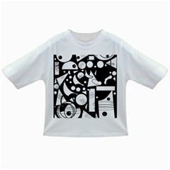 Happy day - black and white Infant/Toddler T-Shirts
