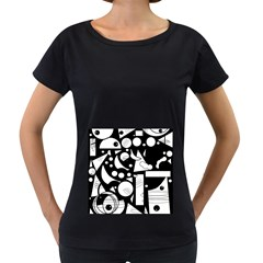 Happy day - black and white Women s Loose-Fit T-Shirt (Black)
