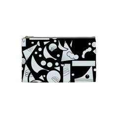 Happy day - black and white Cosmetic Bag (Small)