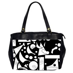 Happy day - black and white Office Handbags (2 Sides)