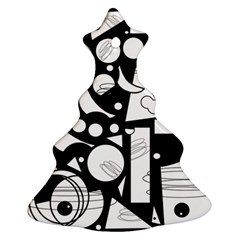 Happy day - black and white Ornament (Christmas Tree)
