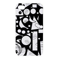 Happy day - black and white Apple iPhone 4/4S Hardshell Case