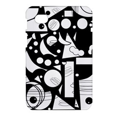 Happy day - black and white Samsung Galaxy Tab 7  P1000 Hardshell Case