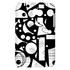 Happy day - black and white Samsung S3350 Hardshell Case