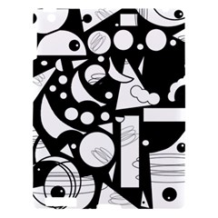 Happy day - black and white Apple iPad 3/4 Hardshell Case