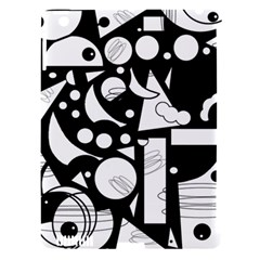 Happy day - black and white Apple iPad 3/4 Hardshell Case (Compatible with Smart Cover)