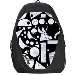 Happy day - black and white Backpack Bag