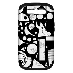 Happy day - black and white Samsung Galaxy S III Hardshell Case (PC+Silicone)
