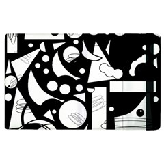 Happy day - black and white Apple iPad 3/4 Flip Case