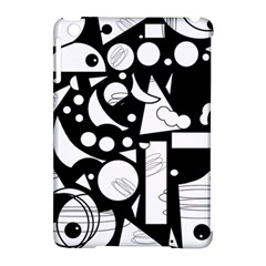 Happy day - black and white Apple iPad Mini Hardshell Case (Compatible with Smart Cover)