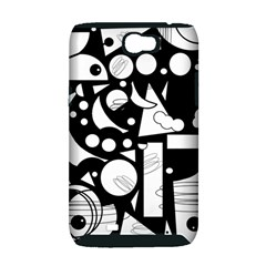 Happy day - black and white Samsung Galaxy Note 2 Hardshell Case (PC+Silicone)