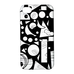 Happy day - black and white Apple iPhone 4/4S Hardshell Case with Stand