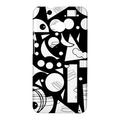 Happy day - black and white HTC One M7 Hardshell Case