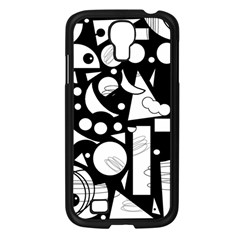 Happy day - black and white Samsung Galaxy S4 I9500/ I9505 Case (Black)
