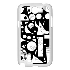 Happy day - black and white Samsung Galaxy Note 2 Case (White)