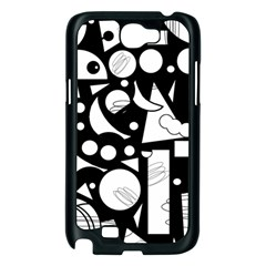 Happy day - black and white Samsung Galaxy Note 2 Case (Black)