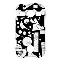 Happy day - black and white Samsung Galaxy S7710 Xcover 2 Hardshell Case