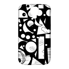 Happy day - black and white Samsung Galaxy S4 Classic Hardshell Case (PC+Silicone)
