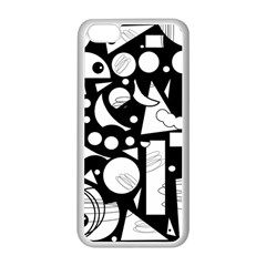 Happy day - black and white Apple iPhone 5C Seamless Case (White)
