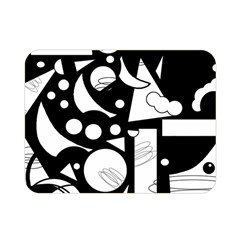 Happy day - black and white Double Sided Flano Blanket (Mini)